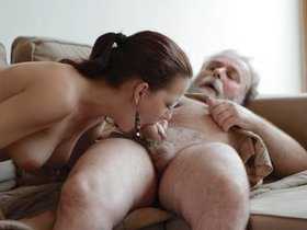 Cuckold leaves his young girl with much older man
