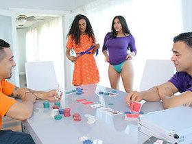 Interracial daughters swap between two dads