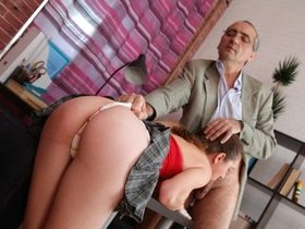 Sultry young student takes professor dick deep inside